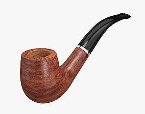 3D model wood Smoking pipe