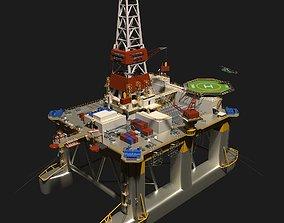 3D TransOcean Legend Oil Platform