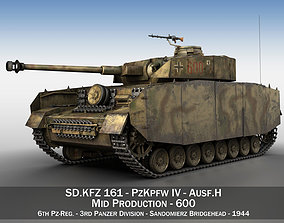 3D model PzKpfw IV - Panzer 4 - Ausf H - 600