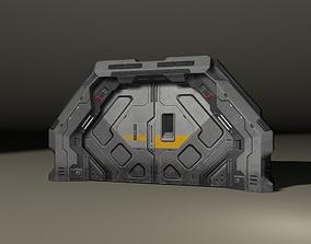 SciFi 3D door game-ready
