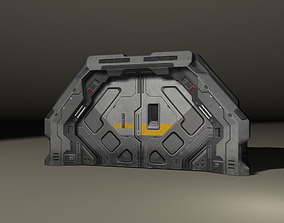 SciFi 3D door game-ready