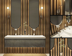 Bathroom set 1 Toto and Berloni 3D model
