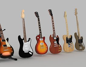 Guitars and bass 3D