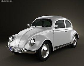 3D Volkswagen Beetle 1949