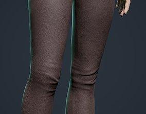 Skinny pants 3D model