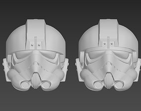 Star Wars TIE Fighter Pilot helmet A 3D printable model 2