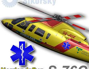 Sikorsky S-76C Norrlandsflyg 3D model
