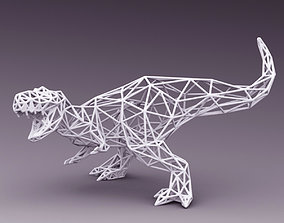 3D PRINTED MODEL T-REX-LINE-CUTS-DESIGN