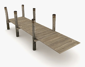 Wood Pier 3D model realtime