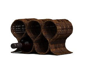 3D model Wicker Wine Rack