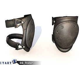Knee Pad Set Lowpoly 3D Model game-ready