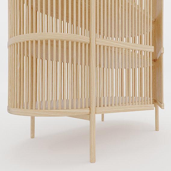 Bastone Cabinet  Oak with Doors