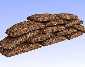 Sandbags 3D asset