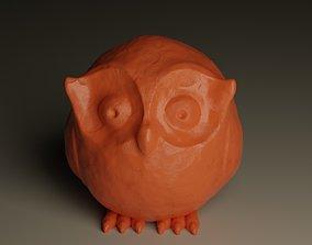 Owl sculpture 3D
