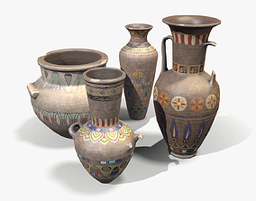 3D model Egyptian Vases