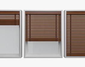 Wood blinds window 3D model VR / AR ready