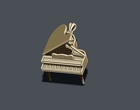 Piano pendant 3D printable model