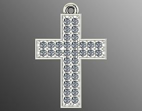 Pendant od 12 cross 3D print model