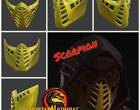 3D print model Scorpion mask from Mortal Kombat 11 -