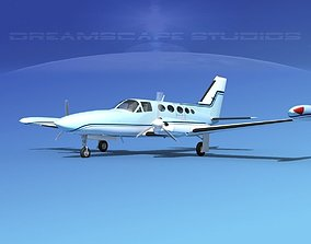 3D model Cessna 414 Chancellor V14