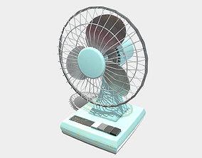 Low Poly PBR Desk Fan 3D model