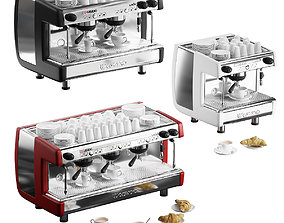 Casadio Undici coffee machines with croissants - 3 models