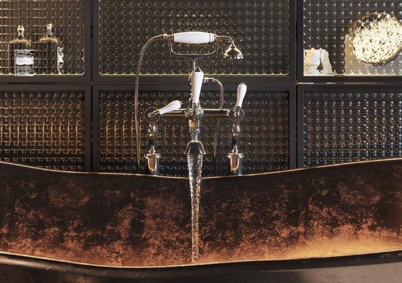 Copper & Glass Bathroom