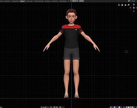 3D Amy Boy Stylized Character No1 for Blender Cycles and