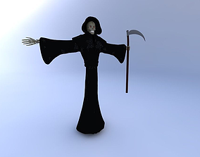 3D model Grim Reaper Neutral Position w texture