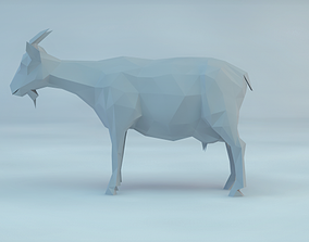 3d low poly goat other