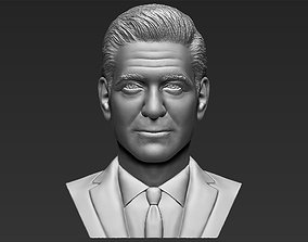 George Clooney bust 3D printing ready stl obj formats
