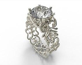 free 3D print model Diamond ring