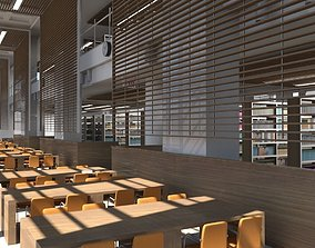 Library Interior 3d Scene school