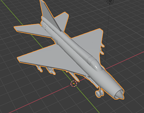 russia MiG-21 Fishbed Wannabe 3D model