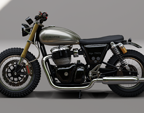 Royal Enfield650 twin-Cuttom 3D model
