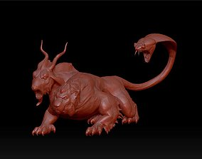 monster with lion head goat body 3D print model