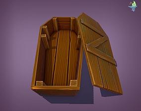 3D asset Game ready Coffin