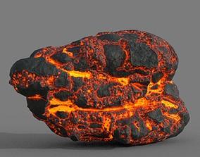 3D asset Low poly Lava Rock 08-190427