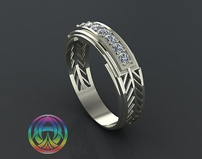 3D printable model rings wedding jewelry diamond ring