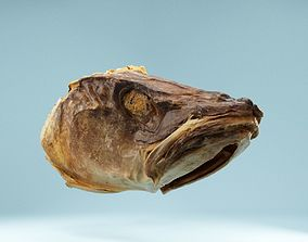 Dried Fish Head 3D model
