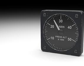 F16 Cabin Pressure Indicator 3D model
