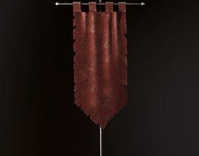 3D model Ancient Torn Flag
