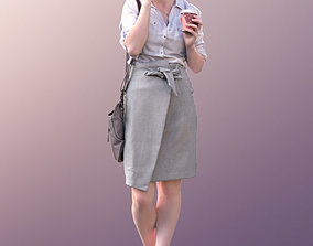 10517 Svenja - Woman With Purse And Coffee Talking On 3D 1
