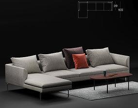 Zanotta Flamingo sofa corner 3D model