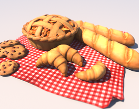 3D asset Cartoon Pastries