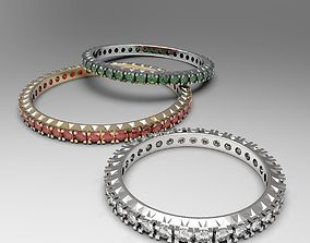 3D print model Thin eternity stackable ring set