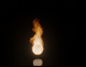 Fire Simulations 3D model