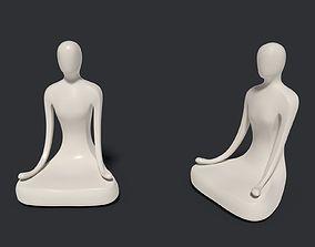 Meditation Figurine - Abstract Buddha 2 3D model