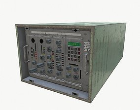 3D model low-poly Radio unit 1