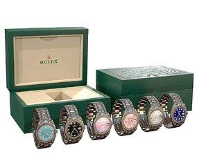 Rolex Watch Datejust II Diamond 3D asset game-ready